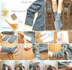 Healthy people 2020 obesity and poverty action: Old Sweater, Sweaters, Diy Clothes Alterations, Tshirt Garn, Alter Pullover, Diy Clothes Refashion, Diy Clothes Videos, Craft Bags, Trends
