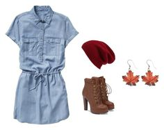 """Fall Fabulous"" by shannonridge on Polyvore featuring Gap, JustFab and Halogen"