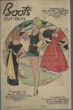 9-15-57 Boots paper doll / eBay