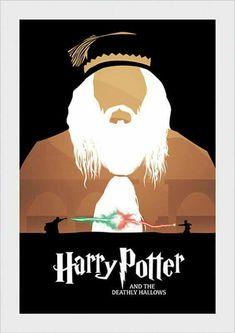 Pôster minimalista Harry Potter