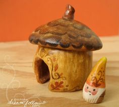 gnome and habitat by Aimee Ray ... uhm this is ridic cute! it's like a gnome nesting doll or something lol