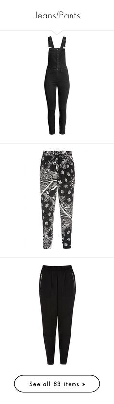 """""""Jeans/Pants"""" by sbello ❤ liked on Polyvore featuring jumpsuits, overalls, bottoms, momma, pants, zipper jumpsuit, h&m jumpsuit, overalls jumpsuit, slim leg jumpsuit and h&m overalls"""
