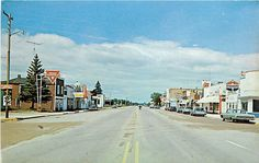 Remer, Minnesota Main Street Postcard