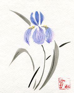 Greeting Card  Purple Iris 5x7 Blank Inside  by KelliMcNicholsArt, $3.50