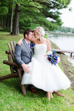 Love this sweet T-Length bridal gown! Photo courtesy of Brown Street Studios