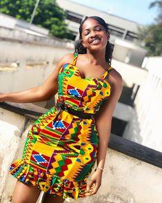 Items similar to Kente Summer Dress, Ankara Summer Dress, African Print Dress on Etsy African Fashion Ankara, Latest African Fashion Dresses, African Print Fashion, Africa Fashion, African Style, Tribal Fashion, Latest Ankara Dresses, Short African Dresses, African Print Dresses