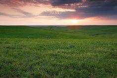 Sunset, Native Stone Scenic Byway, KS