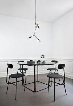 Black and white interior design #SimpleSpace #Minimalist Norm Architects Studio