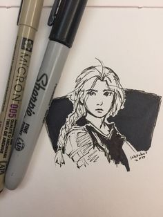 "abadpoetwithdreams: ""I haven't done much for inktober this year due to all the travel craziness, but I'll try to post some stuff for this last half of the month! The theme will probably just be fictional characters I like, so here's an Edward Elric..."