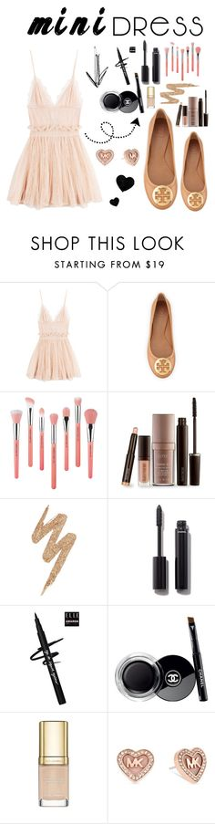 """""""Mini Dress; MK"""" by tonilovesfashion ❤ liked on Polyvore featuring Alexander McQueen, Tory Burch, Bdellium Tools, Laura Mercier, Urban Decay, Chanel, Dolce&Gabbana and Michael Kors"""