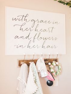 WITH GRACE IN HER HEART AND FLOWERS IN HER HAIR // Printable Wall Art by Dear Lily Mae (@dearlilymae) on Instagram // Nursery decor, instant art, wall prints, nursery prints, nursery inspo, nursery decoration, nursery ideas, baby shower gift