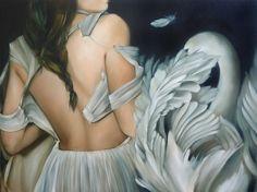 Leda and the swan   Amy Judd