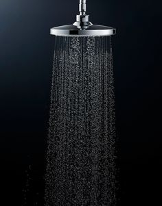 Simple fixtures don't lack the spa-like luxury of more ornate models, The Aero Rain Shower injects air into each droplet to provide a luxurious showering experience.