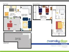 Carnaby Village Townhomes Columbus Ohio Basement For Rent, Bath Town, Columbus Ohio, Kitchen Living, Kitchen Flooring, Second Floor, Living Area, Townhouse, Floor Plans