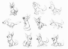 Картинки по запросу нарисовать овчарку со щенком