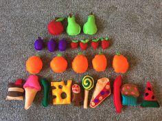 The very hungry caterpillar story sack #handmade #felt #storysack #food