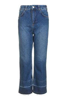 MOTO Let Down Hem Wide Leg Jeans