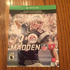 Madden NFL 17 Xbox One DIGITAL CODE  $35.00 (9 Bids)End Date: Saturday Sep-10-2016 10:00:28 PDTBid now | Add to watch list