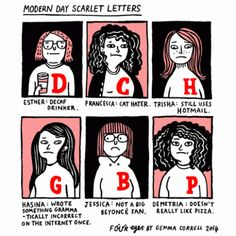 Modern Day Scarlet Letters Comic