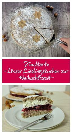 Zimttorte – so köstlich – Schnelle Rezepte aus meiner Küche This cinnamon cake is a family classic: you can find it on our coffee table every year during Christmas and winter. It looks great, but is really easy to prepare. Quick Recipes, Quick Easy Meals, Sweet Recipes, Cake Recipes, Dessert Recipes, Cinnamon Pie, Cake & Co, Food Cakes, Christmas Baking