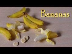 Polymer Clay Banana Tutorial - Miniature Food - YouTube