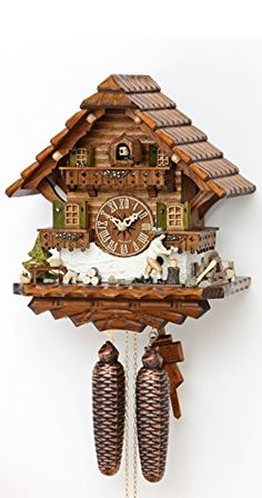 Wall Clocks Décor | Cuckoo Clock Black Forest house with moving wood chopper *** Read more reviews of the product by visiting the link on the image.(It is Amazon affiliate link) #liketeam