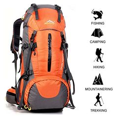 37b7cfc13a64 PINSV 50L455 Hiking Backpack for Large Capacity Multifunctional  Professional Outdoor Sport Hiking Waterproof Trekking Rucksack with