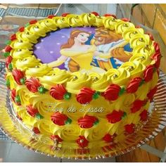 Super Ideas For Birthday Cake Decorating Buttercream Beautiful Belle Birthday Cake, 4th Birthday Cakes, Cupcakes, Cupcake Cakes, Beauty And The Beast Cake Birthdays, Belle Cake, Snowman Cake, Birthday Cake Decorating, Disney Cakes