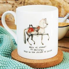 Trust there's been no walk of shame this morning? #strideofpride #original #design #ceramics #mug #cuppa #pony #horselove
