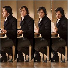 Fitzwilliam Darcy - Pride & Prejudice Is it just me, or does that desk seem way too small for him? Elizabeth Bennet, Darcy And Elizabeth, James Dean, Fan Art, Lito Rodriguez, Darcy Pride And Prejudice, Mr. Darcy, Jane Austen Movies, Little Dorrit