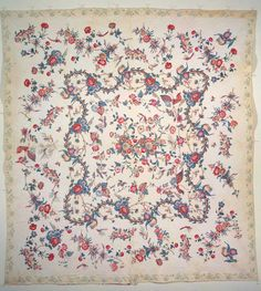 CUT-OUT CHINTZ QUILT WITH CHINTZ BORDER | American Folk Art Museum, artist unidentified, possibly New England, 1835-1850, cotton, 100 x 91 inches, gift of Cyril Irwin Nelson in honor of Judith and James Milne, 2003.1.2