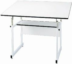 Melamine Drafting Table Frame Finish: White, Size: 30 x 42 online. Shop the latest collection of WorkMaster Jr. Melamine Drafting Table Frame Finish: White, Size: 30 x 42 from the popular stores - all in one Studio Furniture, Home Office Furniture, Furniture Deals, Kitchen Furniture, Vintage Drafting Table, Drafting Tables, White Melamine Board, Armoire, White Laminate