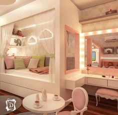 35 amazing kids bedroom decoration ideas page 19 Teen Bedroom Designs, Room Design Bedroom, Room Ideas Bedroom, Home Room Design, Small Room Bedroom, Kids Bedroom, Bed For Girls Room, Bedroom Decor For Teen Girls, Girl Room
