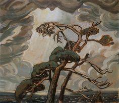 Group of Seven - Arthur Lismer - Pine Trees, Georgian Bay Group Of Seven Artists, Group Of Seven Paintings, Canadian Painters, Canadian Artists, Emily Carr Paintings, Tom Thomson Paintings, Canada Images, Landscape Paintings, Tree Paintings