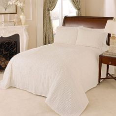 Beatrice Home Fashions Channel Chenille Bedspreads, Queen, Ivory //http://bestadjustablebed.us/product/beatrice-home-fashions-channel-chenille-bedspreads-queen-ivory/