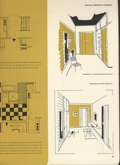 I scanned several pages of old magazines and books during my studies. This one is from a AIT [Interiour] magazine Architecture Concept Drawings, Architecture Collage, Architecture Portfolio, Architecture Design, Architecture Graphics, Planer Layout, Interior Design Presentation, Archi Design, Grafik Design