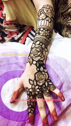 Try This Beautiful Arm Henna Tattoo Design. Rose Mehndi Designs, Latest Henna Designs, Legs Mehndi Design, Indian Mehndi Designs, Mehndi Designs For Girls, Modern Mehndi Designs, Mehndi Designs For Fingers, Wedding Mehndi Designs, Mehndi Design Pictures