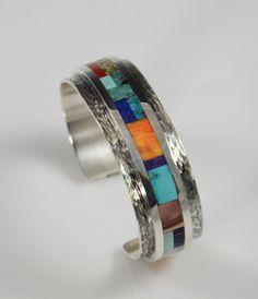 Vernon Begay, navajo Bracelet, Inlay Bracelet, Navajo Inlaid Bracelet, Vernon Begay Navajo, Vernon Begay Jewelry, Indian Jewelry Sedona, Sedona Indian Art