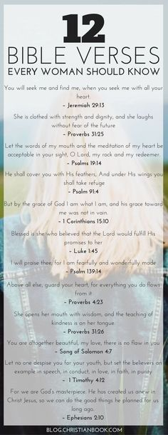 12 Bible Verses Every Woman Should Know by kristy Life gets busy and finding time out with the Bible can be difficult. Here are the Bible verses to encourage, heal and nourish women in all seasons of life. Prayer Verses, Bible Prayers, Bible Verses Quotes, Bible Scriptures, Bible Quotes For Women, Motivational Bible Verses, Bible Verses For Encouragement, Life Verses, Verses For Healing