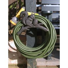 Rustic Squirrel Hose Holder by BensCountryForge on Etsy