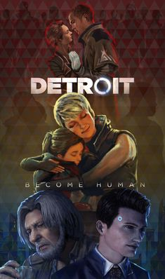 North and Markus, Alice and Kara, Hank and Connor - Epik Game Detroit Become Human Game, Detroit Being Human, Playstation, Detroit Art, Quantic Dream, Becoming Human, Arte Cyberpunk, Life Is Strange, Photoshop Design