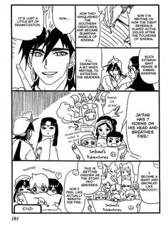 Sinbad ' story... Jafar's face at the end though. Priceless XD