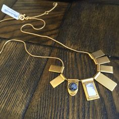 Madewell Stone Necklace A brand new stone necklace in gold from Madewell. In great condition and pairs well with everything as a statement piece Madewell Jewelry Necklaces