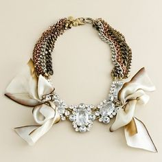 a glam statement necklace