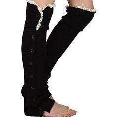 Womens Knee High Knit Flat Button Down Crochet Lace Trim Leg Warmers Boot Socks iShot Pro® http://www.amazon.com/dp/B00OM6NXIE/ref=cm_sw_r_pi_dp_M-gUub0SMAMSX