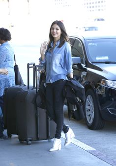 Victoria Justice, At LAX Airport, 14 January, 2015