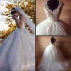 Sexy A-Line Wedding Dress Bridal Gown White/Ivory Custom Made Plus Size 2-28