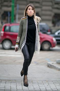 Spotted Bless The Mess Federal blazer during Milan Fashion Week, by Carola Bernard