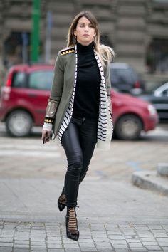 Spotted Bless The Mess Federal blazer during Milan Fashion Week, by Carola Bernard