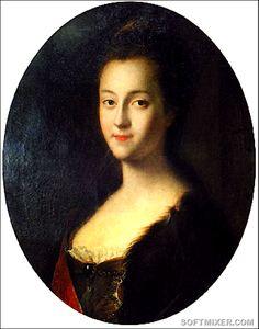 Вот так будущая Екатерина Великая выглядела, когда приехала в Россию, будучи простой немецкой принцессой Софией Августой Фредерикой. Портрет кисти Луи Каравака.